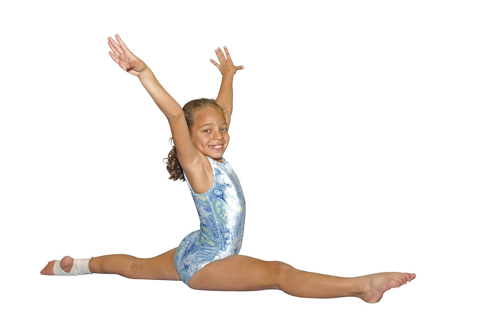 Gymnastics kids splits